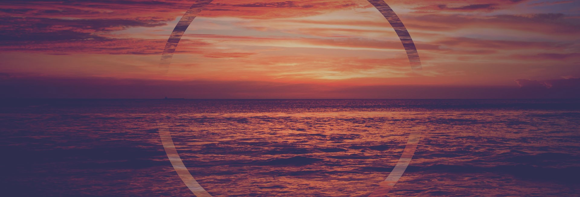 Glory of God Ocean Sunset Website Banner